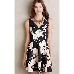 Maeve Amory Floral Scuba Fit & Flare Dress